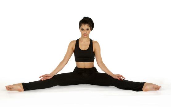 Sitting wide-legged straddle pose