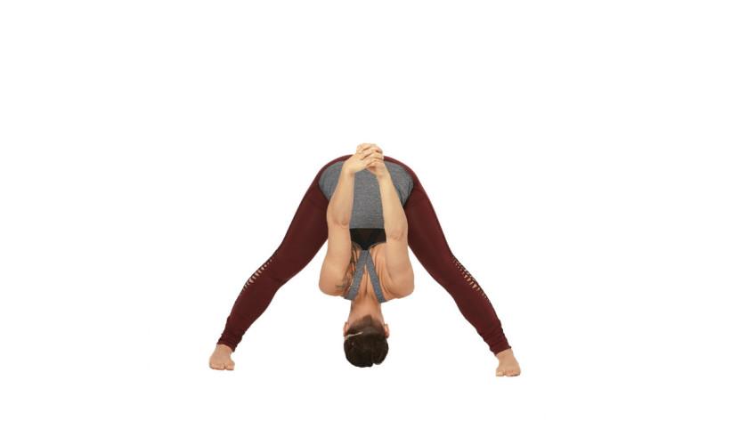 Wide Leg Forward Bend Yoga Pose