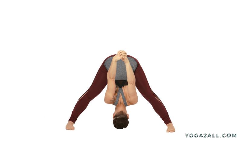 Wide Leg Forward Bend Yoga