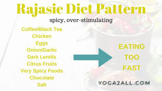 Rajasic Yoga Diet