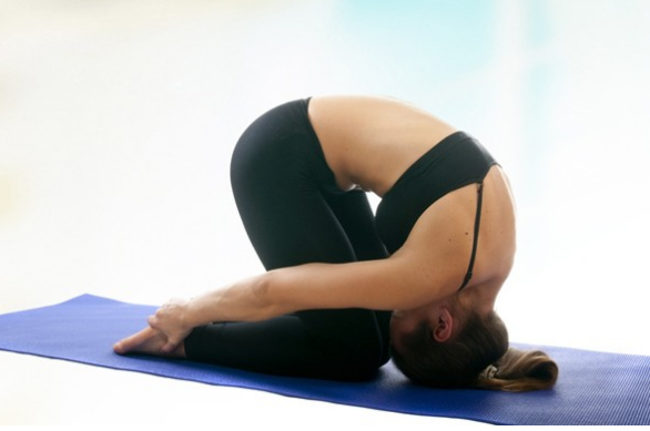Rabbit Pose Or Hare Pose